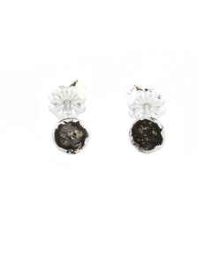 Oxidized SpaceDot Earrings