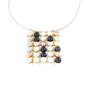Load image into Gallery viewer, Pearl Grid Necklace
