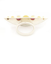 Load image into Gallery viewer, East West Sapphire Citrine Ring