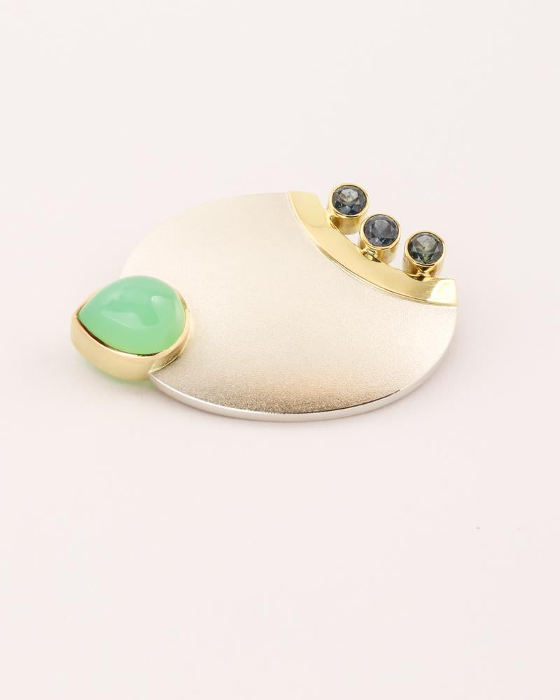 Chrysoprase Brooch