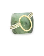 Load image into Gallery viewer, Serpentine and Peridot Ring