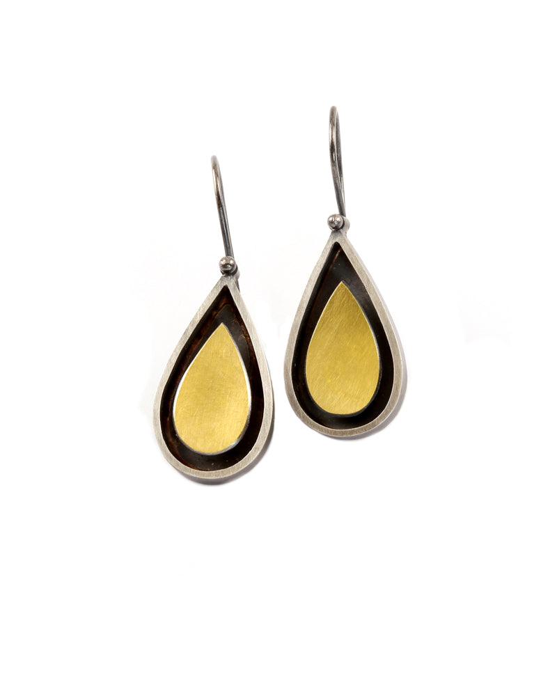 Floating Teardrop Earrings