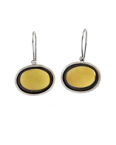Floating Oval Earrings
