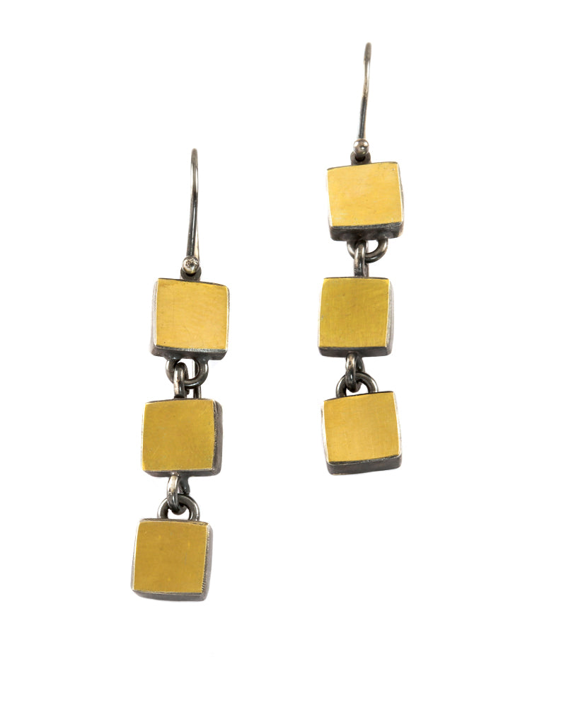 3 Square Earrings