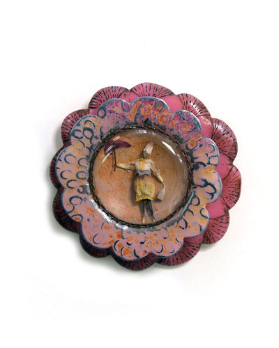 Garden Series Brooch # 1 Pink
