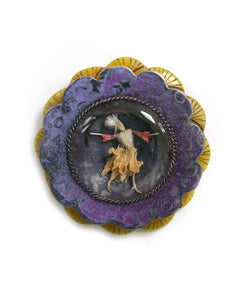 Garden Series Brooch #3 Purple