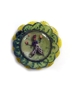 Garden Series Brooch #4 Green