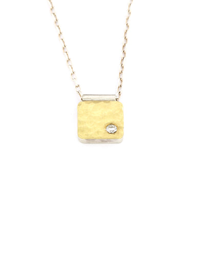 Gold Cell Necklace 8x8