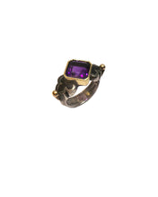 Load image into Gallery viewer, Fine Emerald-cut Amethyst Ring