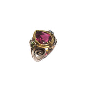 Load image into Gallery viewer, Rubellite Tourmaline And Sapphire Ring
