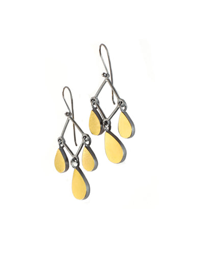 22k Teardrop Chandelier Earrings