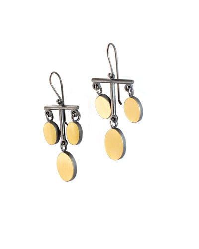 22k Oval Chandelier Earrings