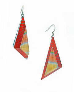 Anuszkiewicz Triangle Dangle Earrings
