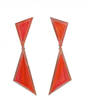 Load image into Gallery viewer, Anuszkiewicz Triangle Drop Earrings