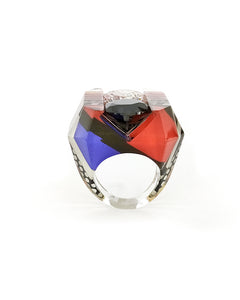 Lichtenstein Double Gem Ring