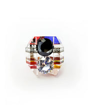 Load image into Gallery viewer, Lichtenstein Double Gem Ring