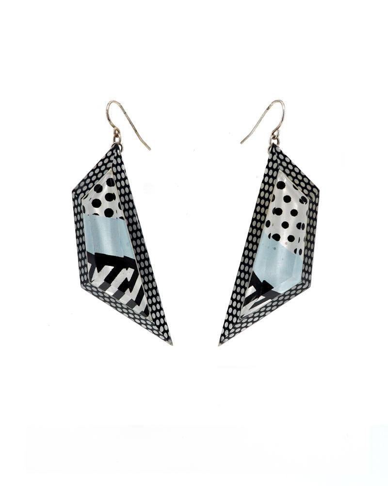 Lichtenstein Faceted Dangle Earrings