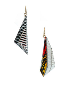 Lichtenstein Triangle Dangle Earrings