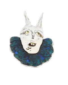 Blue Rabbit Brooch