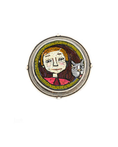 Grey Cat Brooch