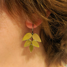 Load image into Gallery viewer, 22k Leaf Earrings