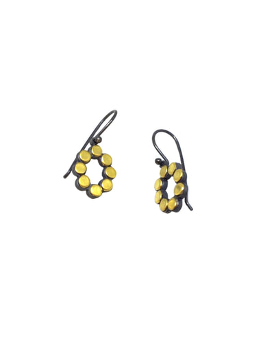 Oval Dot Earrings