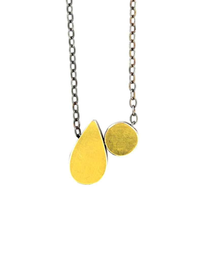 Teardrop & Dot Necklace