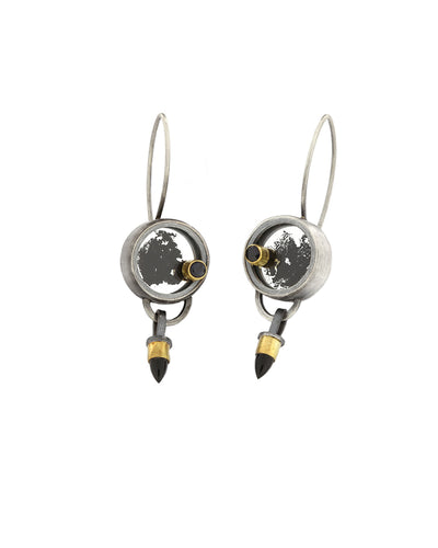 Smoke and Mirrors Earrings Onyx