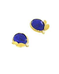 Lapis Lazuli and Leaf Earrings