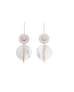 Dangle Mother of Pearl Earrings