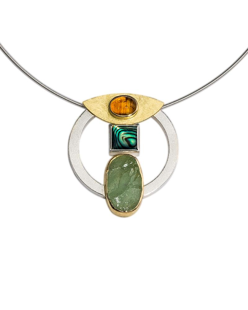 Square abalone necklace
