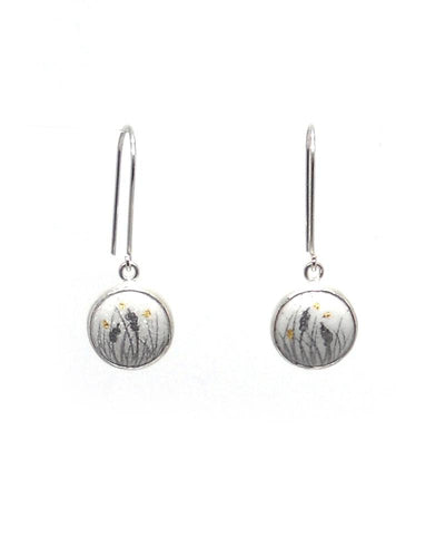 Button Dangle Earrings