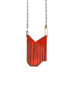 Red Folded Pendant