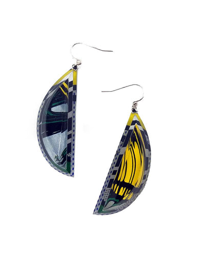 Lichtenstein Half Moon Drop Earrings