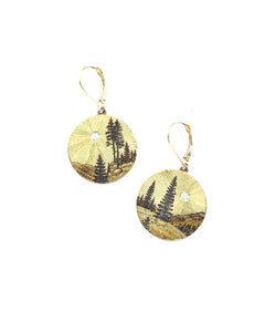Rocky Mountains Memories Round Earrings