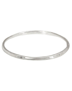 Oval Hammered Twist Bangle