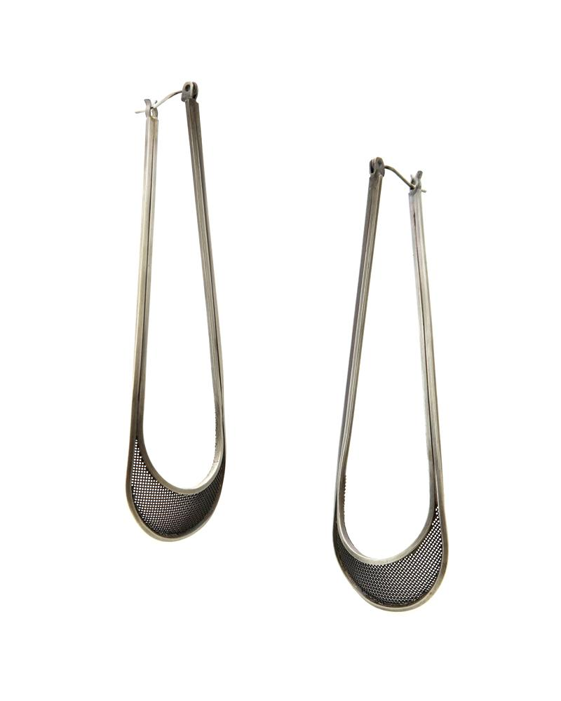 Large Drip Hoop Earrings