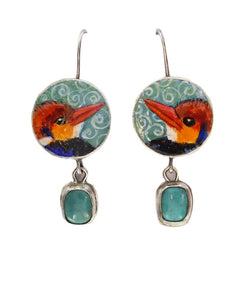 Tiny King Fishers Earrings