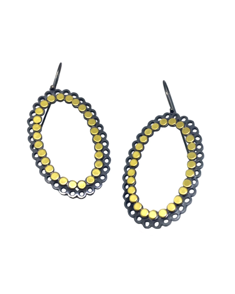 XL Dot Oval Earrings