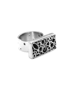 Dotted Tube Rectangle Ring