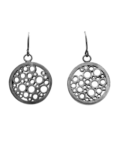 Dotted Tube Round Earrings