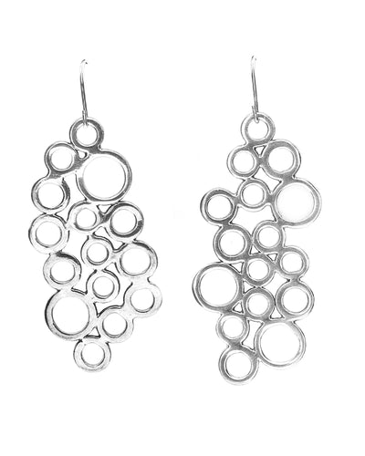 Large Cluster Circle Earrings