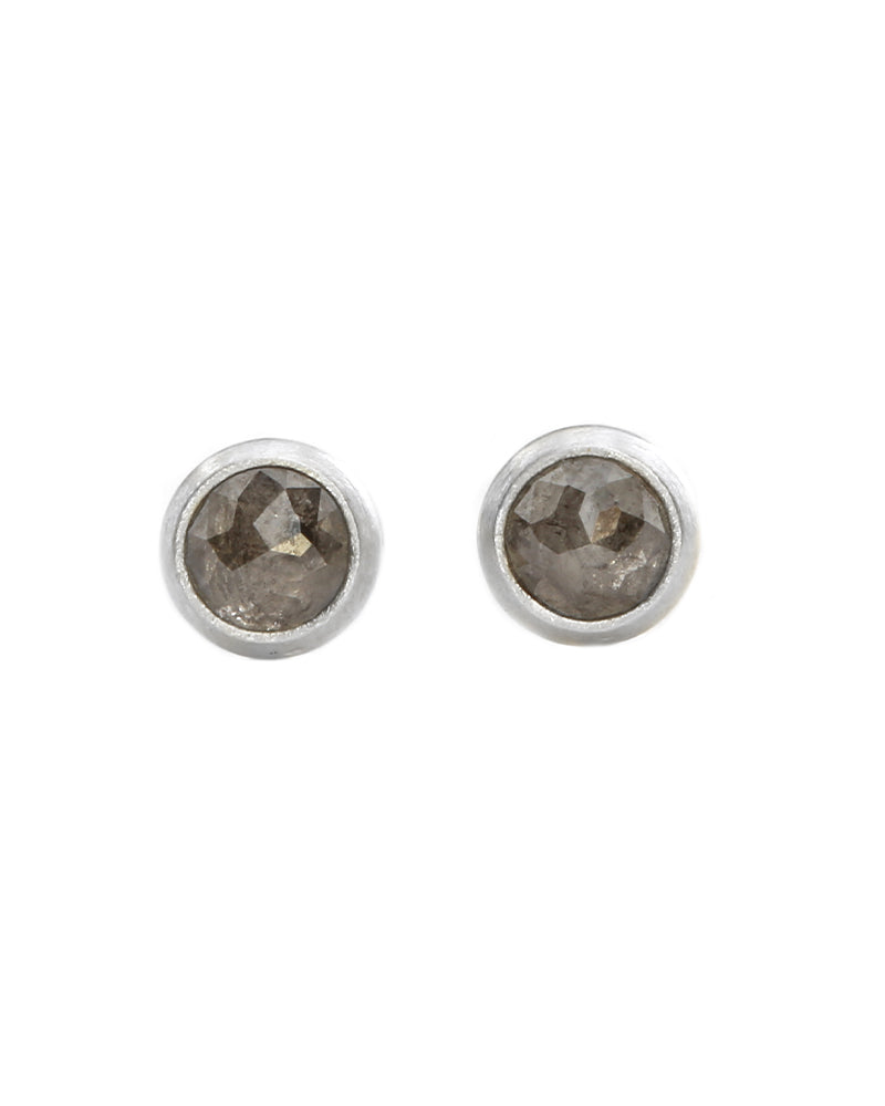 Rose cut studs in gray
