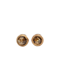 Rose cut studs in champagne