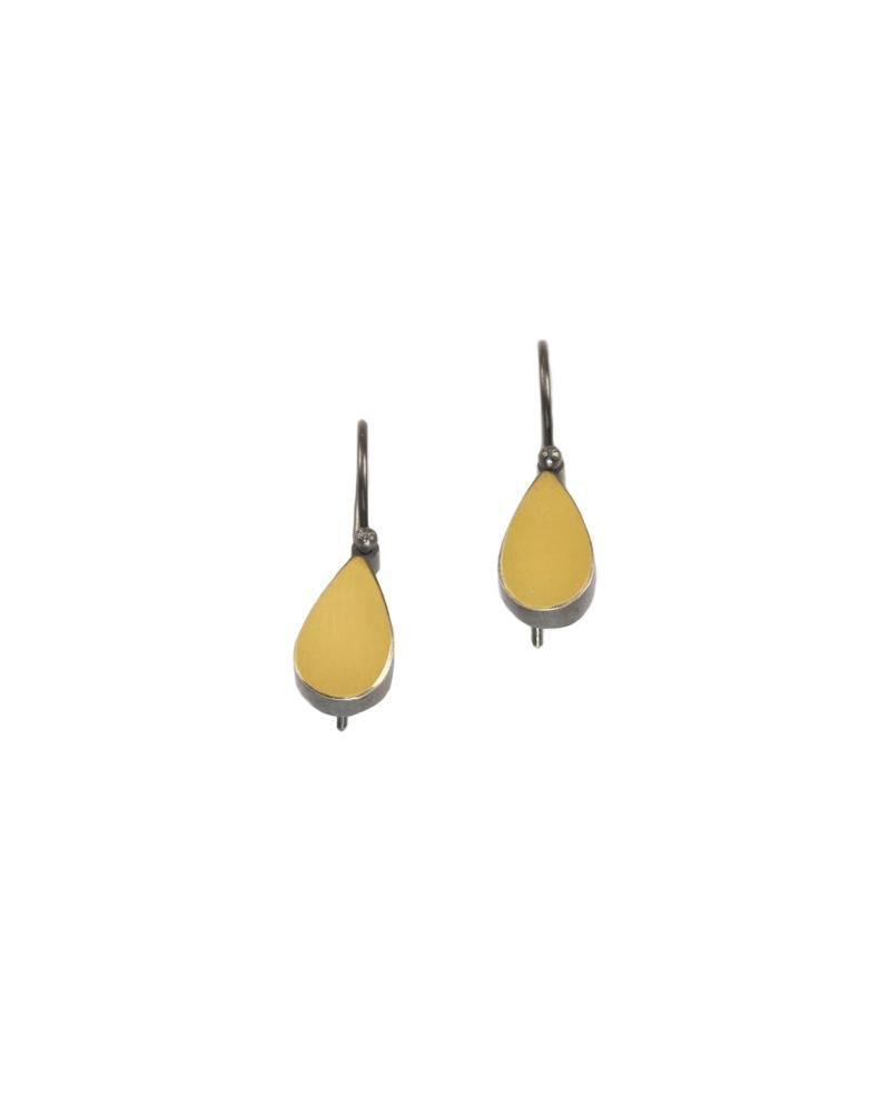 22k bimetal Teardrop Earrings