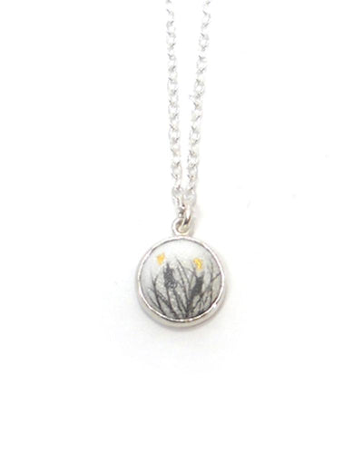 Cattails Circle Charm