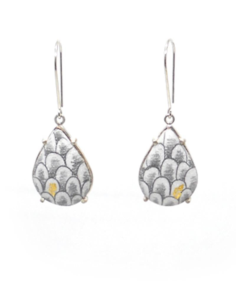 Scale Teardrop Dangles