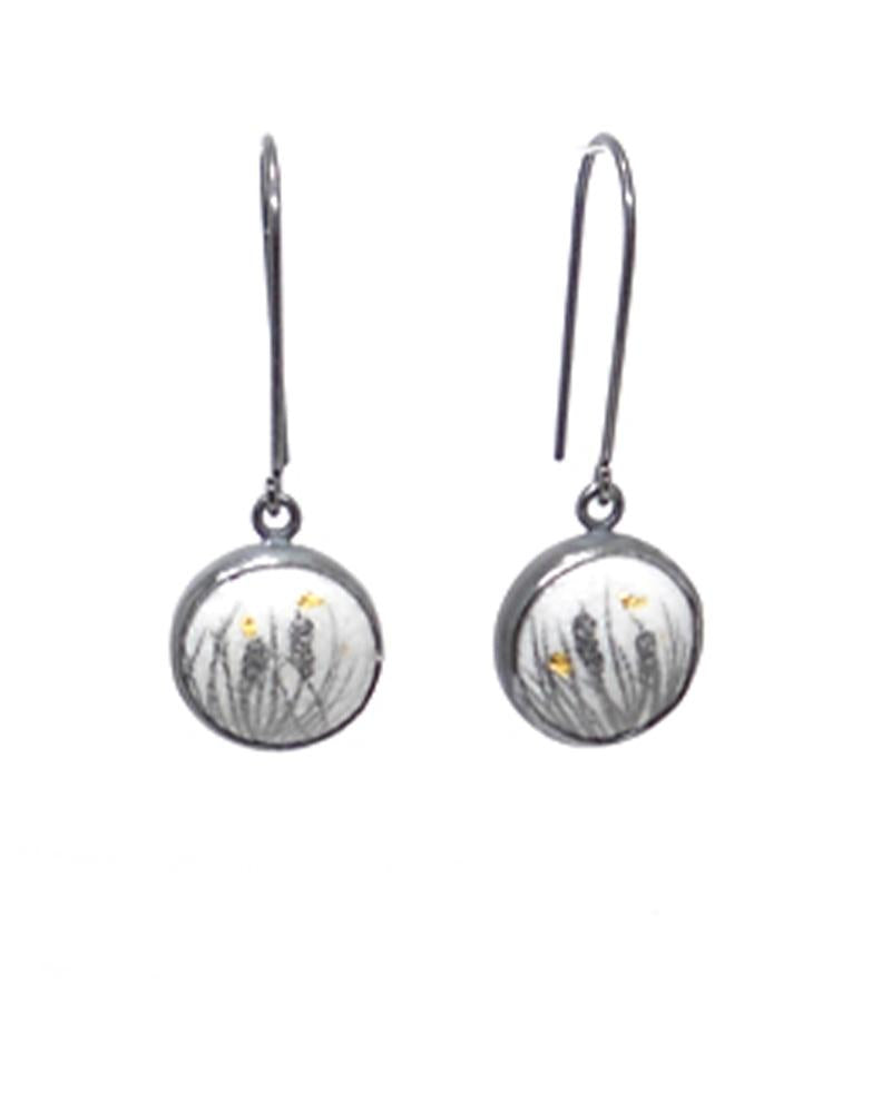 Cattail Button Dangles