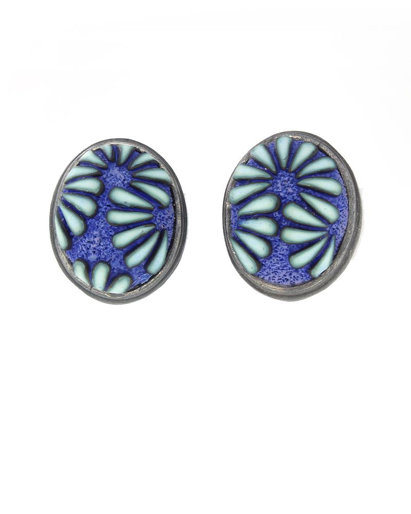 Button Earrings #326