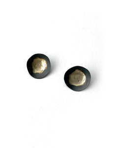 Round lightweight Oxidized Earrings
